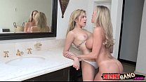 brandi love and lia lor share hard dick and fucked on turns