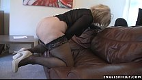 ritish milf in stockings with vibrator