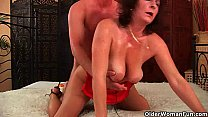 Mom wants you to mount her and blow your load o...