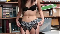 Pretty babe caught stealing and screwed by LP o...