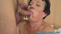 Smaltits granny cum mouth
