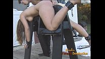 foxy brunette slut kimberly enjoys being bound and having her twat fingered
