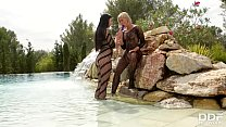 Voluptuous mermaids Tracy Lindsay & Lucy Li ind... Thumbnail