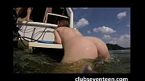 5 teen girls a GoPro and a boat house