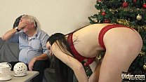 Download video bokep Young slut gets down and sucks cum from old man... 3gp terbaru