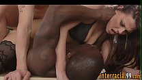 Interracial 3way cutie