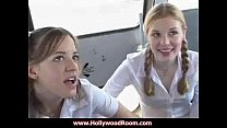 Cum Guzzling Teens Get A Facial From Bus Driver With Madison Sins
