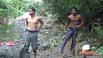 Young latinos fucking in the woods and river Thumbnail