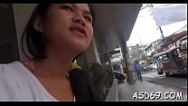 Fascinating asian chick disrobes off to expose ... Thumbnail