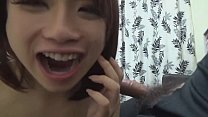 Asian girl finishing a blowjob, cum in mouth (cim) and swallowing