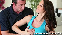 yoga teacher helps a stressed out euro milf to relax and cum