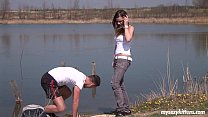 Brunette teen Pascalle gets fucked and jizzed o...