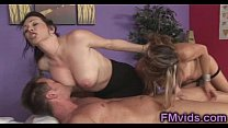 Busty MILFs give amazing massage Thumbnail