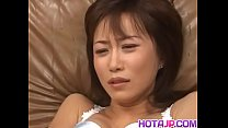 Naked Yui Seto moans with toys down her pussy ...