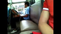 Guy Caught Jerking On The Buss - Busted! Thumbnail