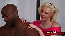 Stunning Jenna Ivory receives interracial dicki...