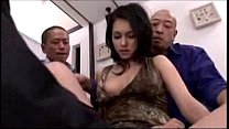 getting her pussy fingered licked stimulated with vibrator by 3 guys on the bed
