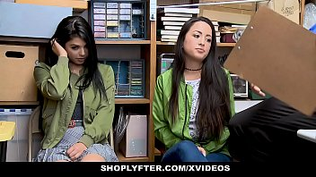 ShopLyfter - Slutty Twin Sisters (Gina Valentina) (Mi Ha Doan) Get Detained And Bribed By LP Officers Cock