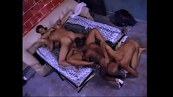 Hot groupsex with three ebony bitches and mens...