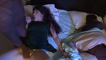 Alexandra wakes up from the smell of black cock while her husband sleeps