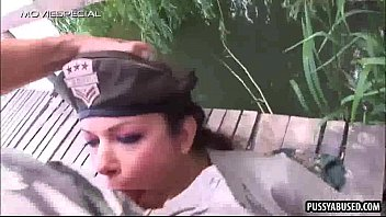 thumb Stunning Army Babe Sucking A Rock Hard Cock Outdoors