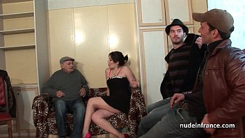 thumb French Squirt Brunette Hard Double Penetrated A