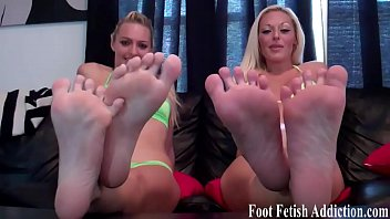 We want you to worship our feet and suck our toes