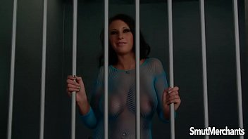 Big boobed jail babe take cock from a guard