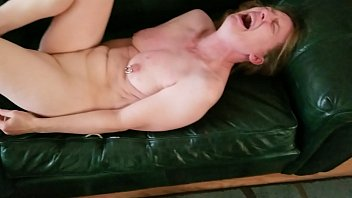 White woman on couch whipped by her Black Master