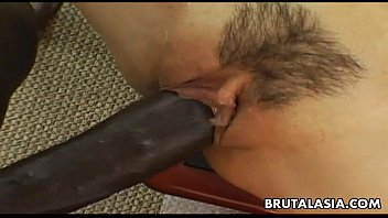 Smoking hot Asian bitch has a black cock to ride  #38287