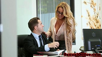 Download video sex new Office secretary gets cum on tits Mp4