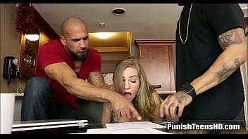 Teen Roommate Punished For Not Paying Rent - PunishTeensHD.com