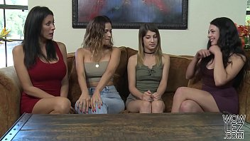 Lesbian Friends And Their Daughters - Kristen Scott And Megan Sage