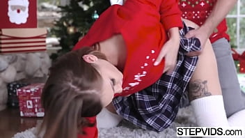 Stepbro caught redhead stepsister with toy and fuck her ass 2