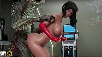 Dinosaur broke out of the laboratory and fucked a Gorgeus Slut   3D Porn Hentai   Fallen Doll