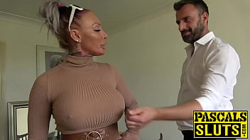 Busty MILF succubus analled roughly before eating cum