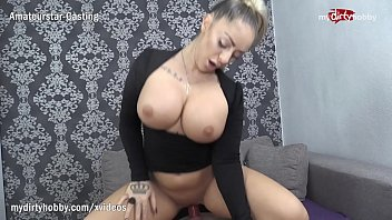 MyDirtyHobby - Gorgeous busty babe makes her fan cum inside her