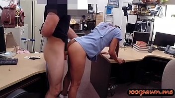 Nurse with glasses gets her pussy fucked by pawn keeper