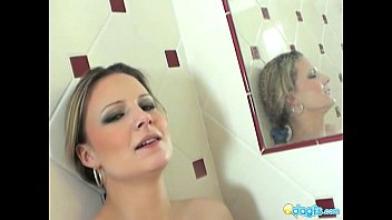 Holly washing the shower...