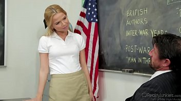 Alina West Cock Riding In Classroom