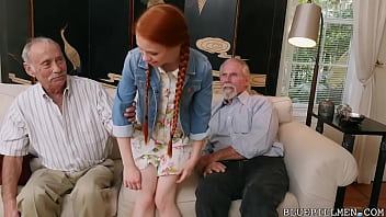 BLUE PILL MEN - Old Men Use Technology To Hook Up With Petite Redhead Teen Dolly Little thumbnail