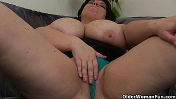 Chubby And Mature Moms With Big Tits Having Solo Sex