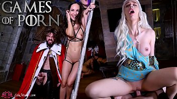 Part 1 - Games of Porn- Lilu Moon & JM Corda & Purple Bitch & KeokiStar
