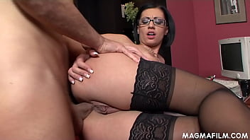 Kinky secretary getting tight asshole nailed