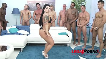 cover video Big Booty Gangster Bitch Monica Santiago Gangbang With Messy Swallow