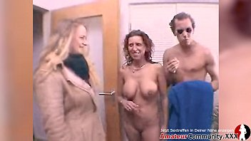 Facial for horny German MILF