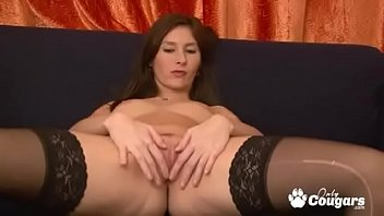 Lewd lover touches her small clit with his tongue