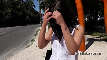 thumb Euro Babe Takes Money And Big Dick Outdoor