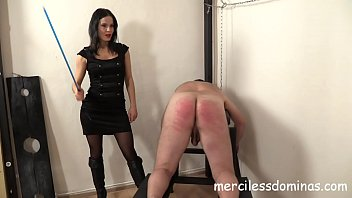 Lady G Spanks Her Slave - Painful Punishment