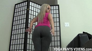 Stroke your dick while I tease you with my yoga pants JOI  #34799
